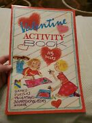 Vintage Valentine Activity Book Cleo Games 3 Pages Punch Out 1980and039s