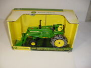 1/16 John Deere 4020 Tractor W/48 Loader And Chains By Ertl Nib Hard To Find