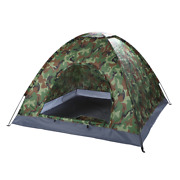 Ubesgoo 3-4 Person Outdoor Camping Waterproof Tent Fast Pitch Family Dome Camouf