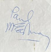 Paul Mccartney Signed Paper Onboard Ss Oriana On 21st January 1969 The Beatles