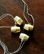 4 Vintage Seagramand039s Whiskey Ancient Bottle Gin Barrel Charms Original String Nos