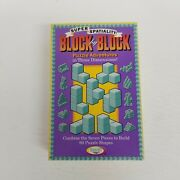 Vintage 1995 Binary Arts Block By Block 60 Puzzle Games 3d, Brain Teaser, New