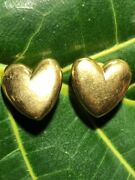 ⚡gorgeous 18k Solid Gold Heart Earrings Love Andrew Clunn❤️