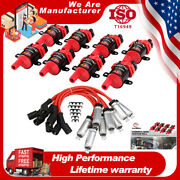 8 D585 Ignition Coil +spark Plug Wire Packs For Chevrolet Silverado 1500 Ls 5.3l