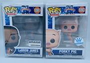 Funko Pop Space Jam A New Legacy Lebron James And Porky Pig Exclus W/ Protectors