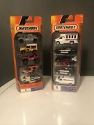 Lot Of 2 Mattel C18170 Matchbox 5 Car Toy Sets 8and12 10 Cars Total New In Box