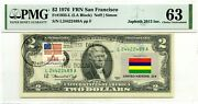 2 Dollars 1976 First Day Stamp Cancel Flag Un From Mauritius Lucky Money 3000