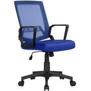 Mesh Office Chair Height Adjustable With Mid-back And 360anddeg Rolling Casters Used