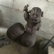 It Is Large Lion Who Holding His Hand On The Super Bale Of Antiquities Antique