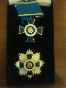 Greece - Greek Order Of Honour Medal Commanderandrsquos Breast Star And Badge Cased
