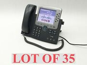 Cisco Cp-7975g Unified Ip Voip Telephone Phone Office Business W/handset Lot 35