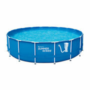 Summer Waves Active 18 Ft Metal Frame Above Ground Pool Set W/ Pump For Parts