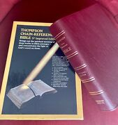 Thompson Chain Reference Bible Burgundy Genuine Leather Handy Size Indexed 536