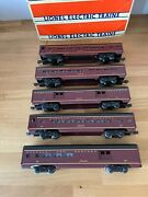 Lionel Norfolk And Western Aluminum Passenger 5 Cars O Scale 15 Long