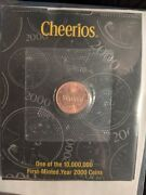 Cheerios 2000 Lincoln Penny Cent - Original Sealed And Error Packaging Backwards