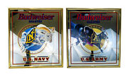 Budweiser Salutes Military Us Marines Navy Army Advertising Framed Bar Mirrors