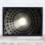 Ceiling Light Architecture History Historic Hole Opening Window Wall Art Print