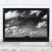 Under The Sky Cloud Bench Sitting Resting People Watching Wall Art Print