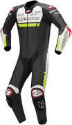 Alpinestars Missile Ignition One-piece Leather Suits 48 Black White Yellow