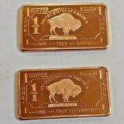 Get Two Copper Bars One Ounce Each With Free Shipping
