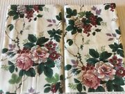 Waverly Pleasant Valley White Pink Burgundy Roses Valances 79 X 16andrdquo Set Of 2