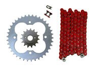 Red 520x96 O-ring Drive Chain And 15/39 Sprockets 1999-2004 Fits Honda Trx400ex