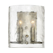 Quoizel Fts8802 Silver Fortress 2-light 10h Wall Sconce With A Glass Shade