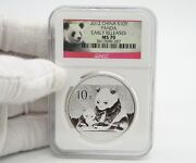 2012 China Panda 1 Oz Silver Coin Ngc Ms70 Early Release Red Panda Label. 287