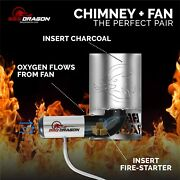 Bbq Dragon Charcoal Starter And Grill Lighter Fan Bundle