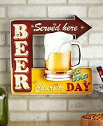 Lighted Vintage Marquee Sign Bar Man Cave Kitchen Wall Art - Beer