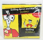 Novelty Apron And Mitt Set, Grilling For Dummies, New In Box, One Size Adjustable