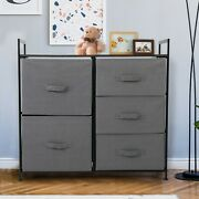 32 Fabric Drawer Organizer Storage Cabinet Units W/5 Fabric Drawers Home Office