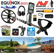 Minelab Equinox 800 Multi-iq Waterproof Metal Detector And Pro-find 15 Pinpointer