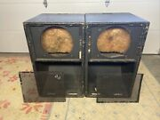 Vintage 1970s Jbl 4530 15andrdquo Scoop Bass Bins For 2225h Drivers Modified Lot Of 4