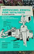 Audel Servicing Zenith 1974/1975 Manual Home Electronic Products Radio Stereo Tv