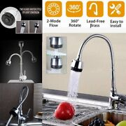 360anddegswivel Kitchen Faucet Sink Stainless Steel Sprayer Spout Mixer Tap Pull Down
