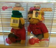 The Monkees Limited Edition Collectible Bear By Dart - Davy And Mike 1785/10000