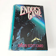 Enderand039s Game | Vintage Hardcover Sci-fi | 1st Edition Andlaquo Orson Scott Card 1985