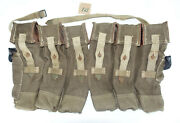 German Army Wwii Repro Kurtz 8mm Ammo Pouches Aged Reinforced Back Strap Inve21