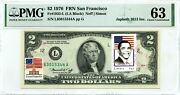 2 Dollars 1976 First Day Stamp Cancel Barack Obama The President Of Usa 3000