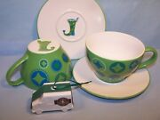 Two Sets - 2006 Starbucks Stocking Cups And Saucers + 2016 Delivery Truck Ornament