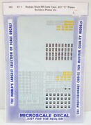 Microscale 87-1 Builders Plates Roman Style Rr Data Decals