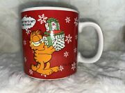 Vintage Garfield Christmas Tip 2 And039tis Better To Get Than To Give Ceramic Mug