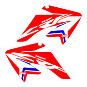 Crf70 2004-2012 Stock Updated Red/blue Shroud Graphics Free Shipping