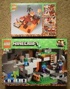 Lego Minecraft Sets 21141 Or 21139 With Figures Alex Steve Zombie Bat Magma Pig