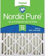 Nordic Pure 16x25x4 Merv 13 Pleated Ac Furnace Air Filters 6 Pack