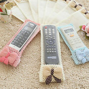 Bowknot Lace Remote Control Dustproof Case Cover Tv Air Condition Protector Yjh2