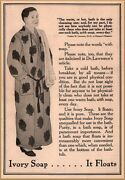 1911 Ivory Soap Man Bathrobe Dr Lawrence Clean Bathe Once Daily Print Ad