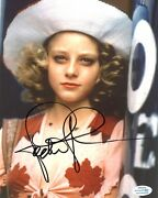 Jodie Foster Signed 10x8 Photo Taxi Driver Genuine Signature Acoa 7404
