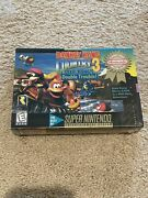 Sealed Super Nintendo Snes Donkey Kong Country 3 Dixie Kongandrsquos Double Trouble